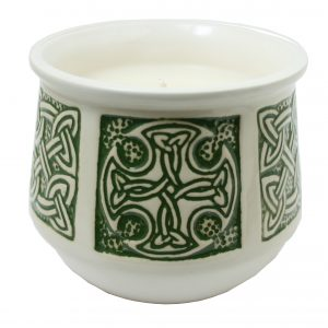 Candle Celtic green