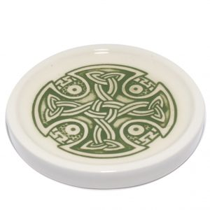 Green Celtic teabag-rest