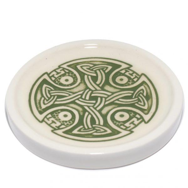 Green Celtic teabag-rest