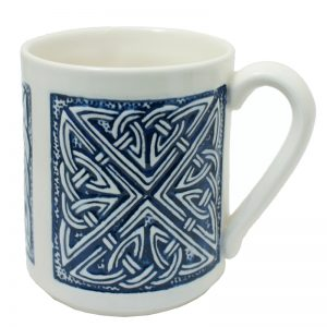 Celtic mug blue