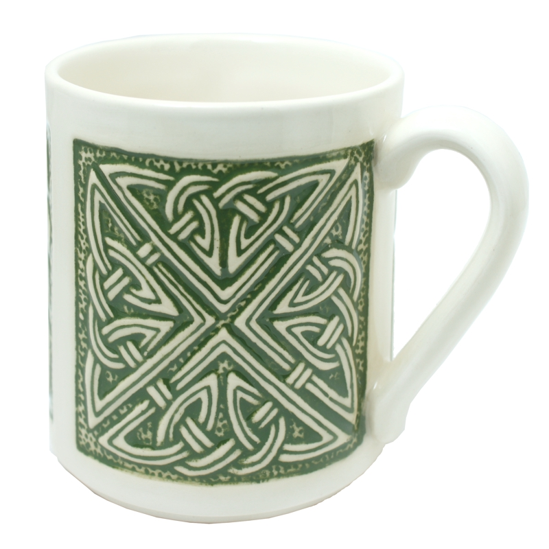 Celtic mug green