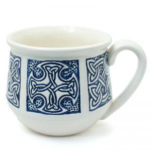 Celtic mug small blue
