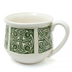 Celtic mug small green