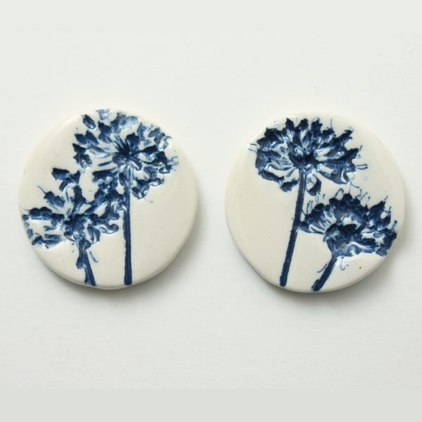 Pressed leaf earrings