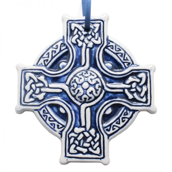 Blue Celtic Hanging Heart