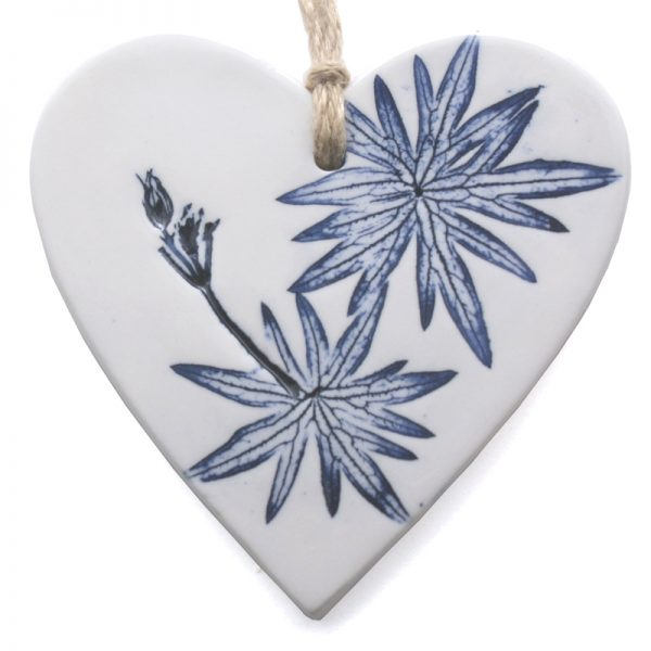 Pressed Leaf Hanging Heart