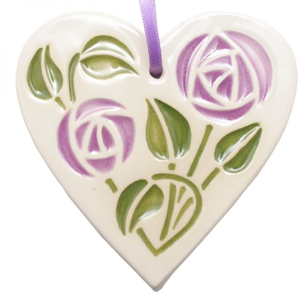 Mackintosh Hanging Heart Lilac