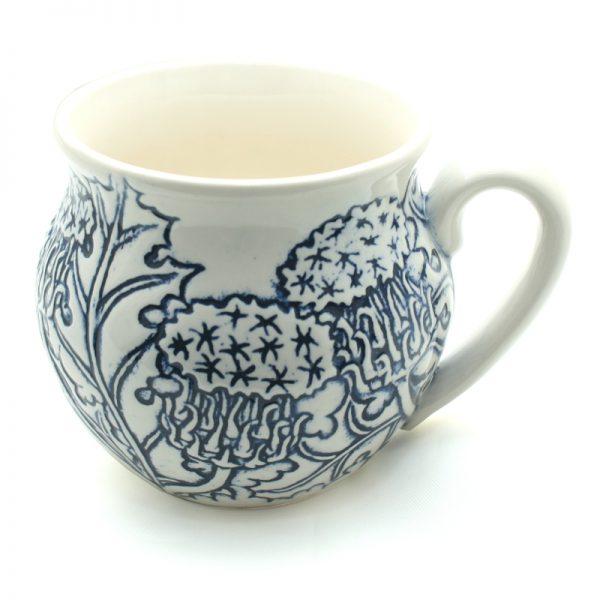 Thistle mug blue Made in Scotland