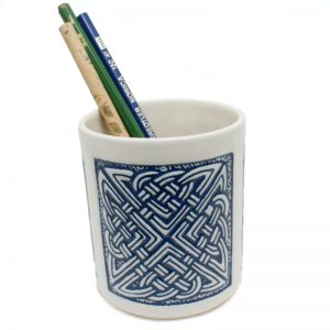 Pencil Holder Celtic Blue