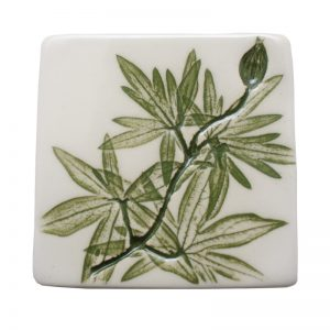 Pressed Leaf Fridge Magnet Green
