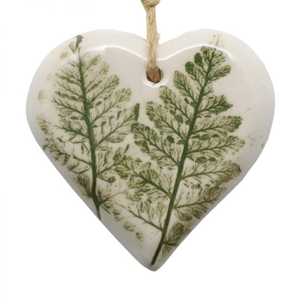 Pressed Leaf Small Heart Green