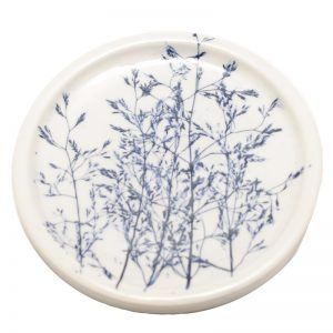 Pressed Leaf Teabag Rest Blue