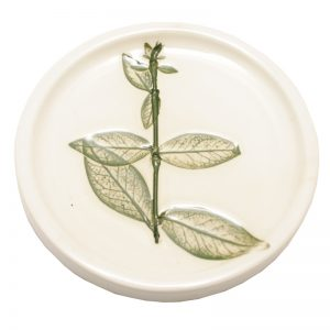 Pressed Leaf Teabag Rest Green