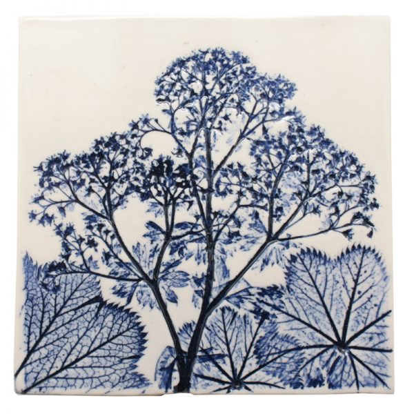 Pressed Leaf Wall Plaque Blue