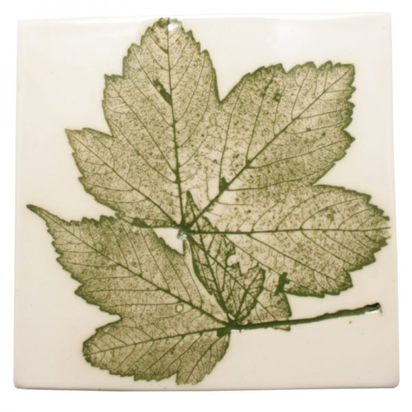 Pressed Leaf Wall Plaque Green