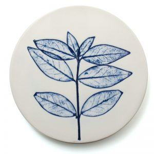 Pressed leaf coaster