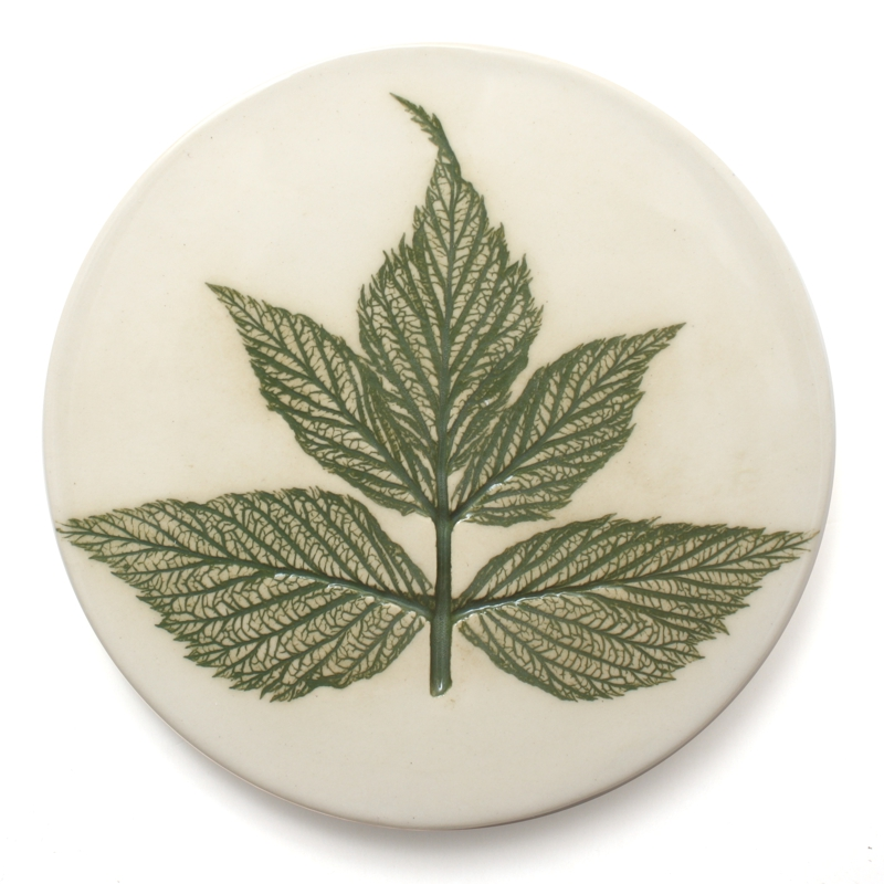 Pressed leaf coaster, made in Scotland