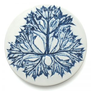 Pressed leaf coaster hand made in Scotland