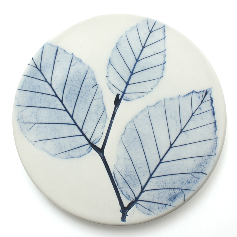 Pressed leaf coaster hand made in Scotland