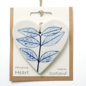 Pressed leaf hanging heart