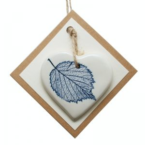 Pressed leaf small heart blue-3