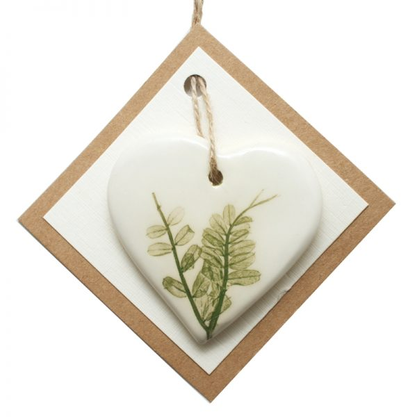 Pressed leaf small heart green-4