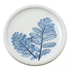 Pressed leaf teabag-rest blue