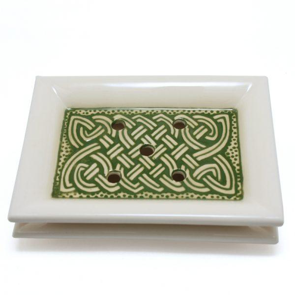 Soap Dish Celtic Green
