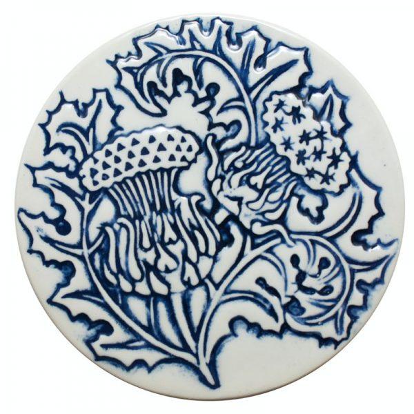 Thistle Coaster blue
