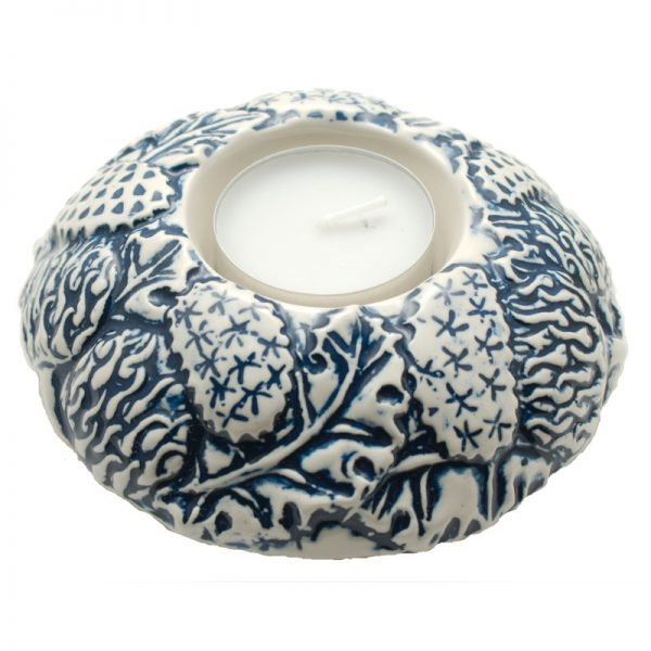 Thistle candle-cup large blue