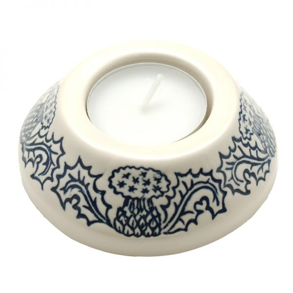 Thistle candle-cup small blue