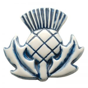 Thistle fridge magnet emblem blue