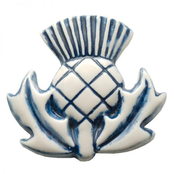 Thistle fridge magnet emblem blue
