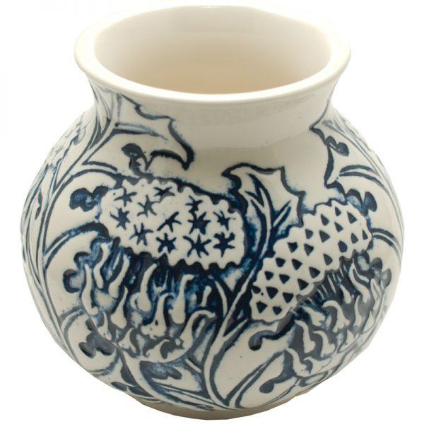Thistle vase blue