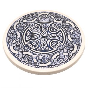 A blue Celtic Teapot Stand