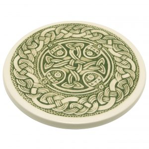 A green Celtic Teapot Stand