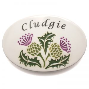 New Thistle Door Plaque - Cludgie