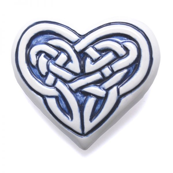 Celtic Fridge magnet - heart - blue