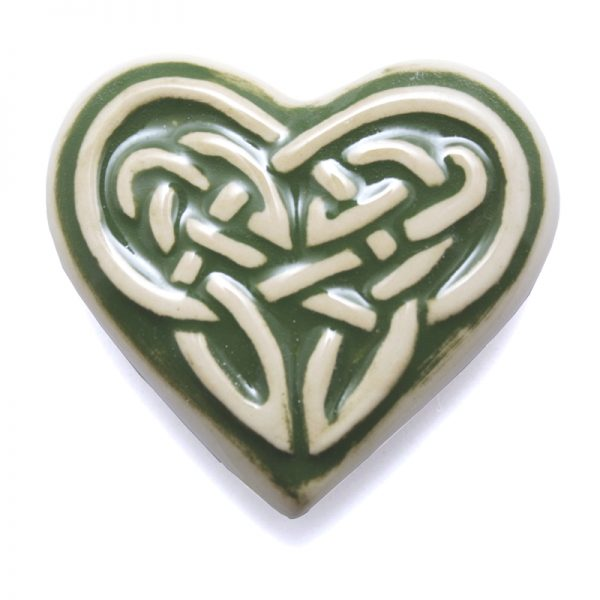 Celtic Fridge magnet - heart - green