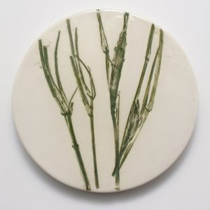Pressed Leaf Coaster - Green Grass