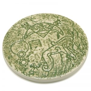 Pictish Coaster Green