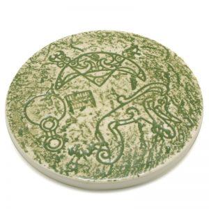 Pictish Coaster Green