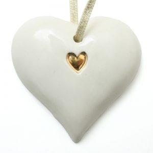 Xmas small gold heart